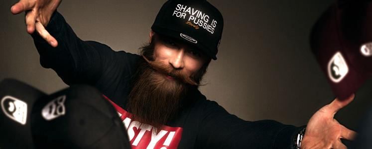 Bearded Man Apparel - kepsar med skäggtryck