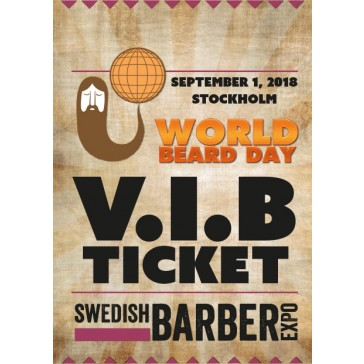 World Beard Day 2018 V.I.B-biljett