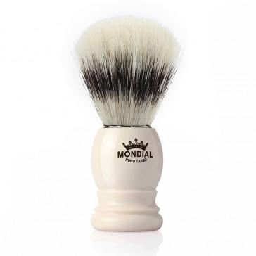 Mondial Basic Shaving Brush Pure Bristle, Ivory