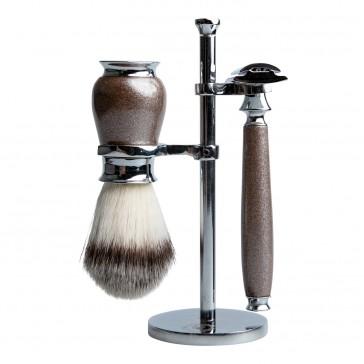 Aarex Shaving Set Grey Metallic No. 10