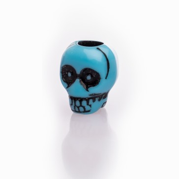 Beard Bead Skull Blue