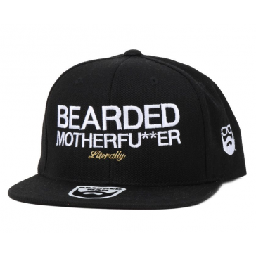 Bearded Man Apparel Bearded Motherfu**er Black Snapback