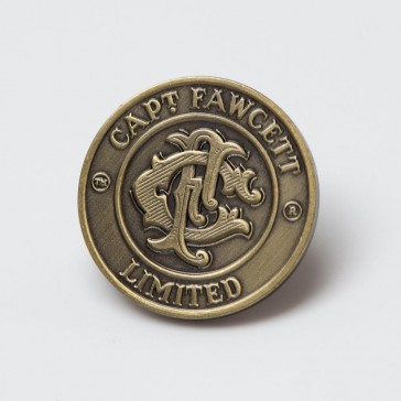 Captain Fawcett Antique Brass Badge