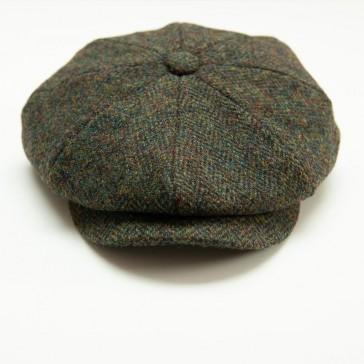 Captain Fawcett Harris Tweed Baker Boy Cap