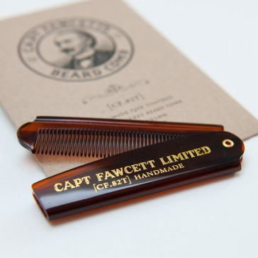 Captain Fawcett Folding Pocket Beard Comb