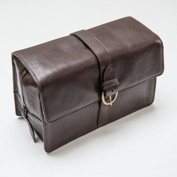 Captain Fawcett Leather Wash Bag