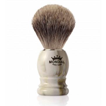 Mondial Basic Shaving Brush Fine Badger, Clear Marble