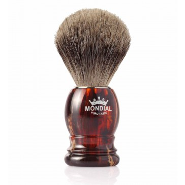 Mondial Basic Shaving Brush Fine Badger, Tortoise Shell