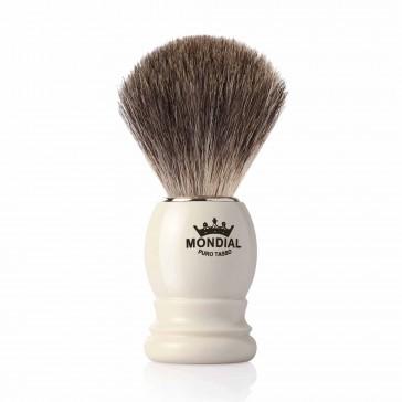 Mondial Basic Shaving Brush Grey Badger, Ivory