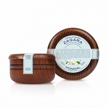 Mondial Classic Luxury Shaving Cream Zagara Wooden Bowl