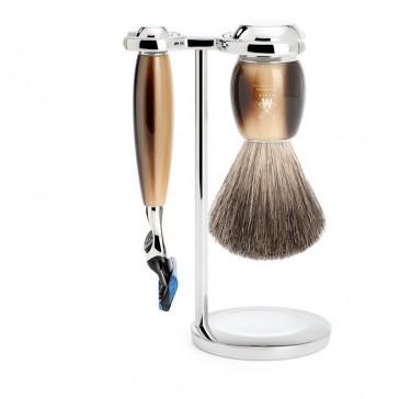 Muhle Vivo Shaving Set Fusion Razor + Brush, Corne