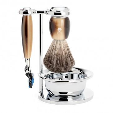 Muhle Vivo Shaving Set Mach3 Razor + Brush + Bowl, Corne