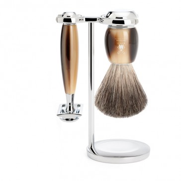 Muhle Vivo Shaving Set Safety Razor + Brush, Corne