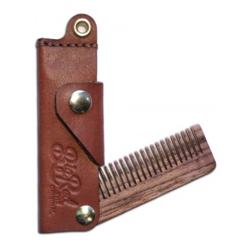 Big Red Beard Comb No.22 - Leather Fine