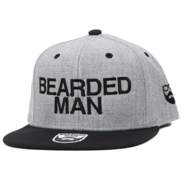 Bearded Man Apparel Official Grey/Black Snapback