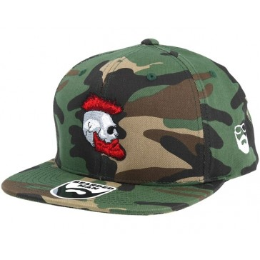 Bearded Man Apparel Riot Beard Camo Snapback