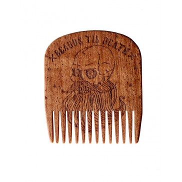 Big Red Beard Comb No.5 - Beards Til Death Skull