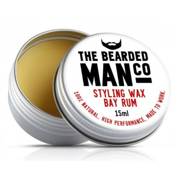 The Bearded Man Company Moustache Wax Bay Rum