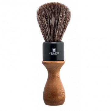 Vie-Long American Style Shaving Brush Brown Horse