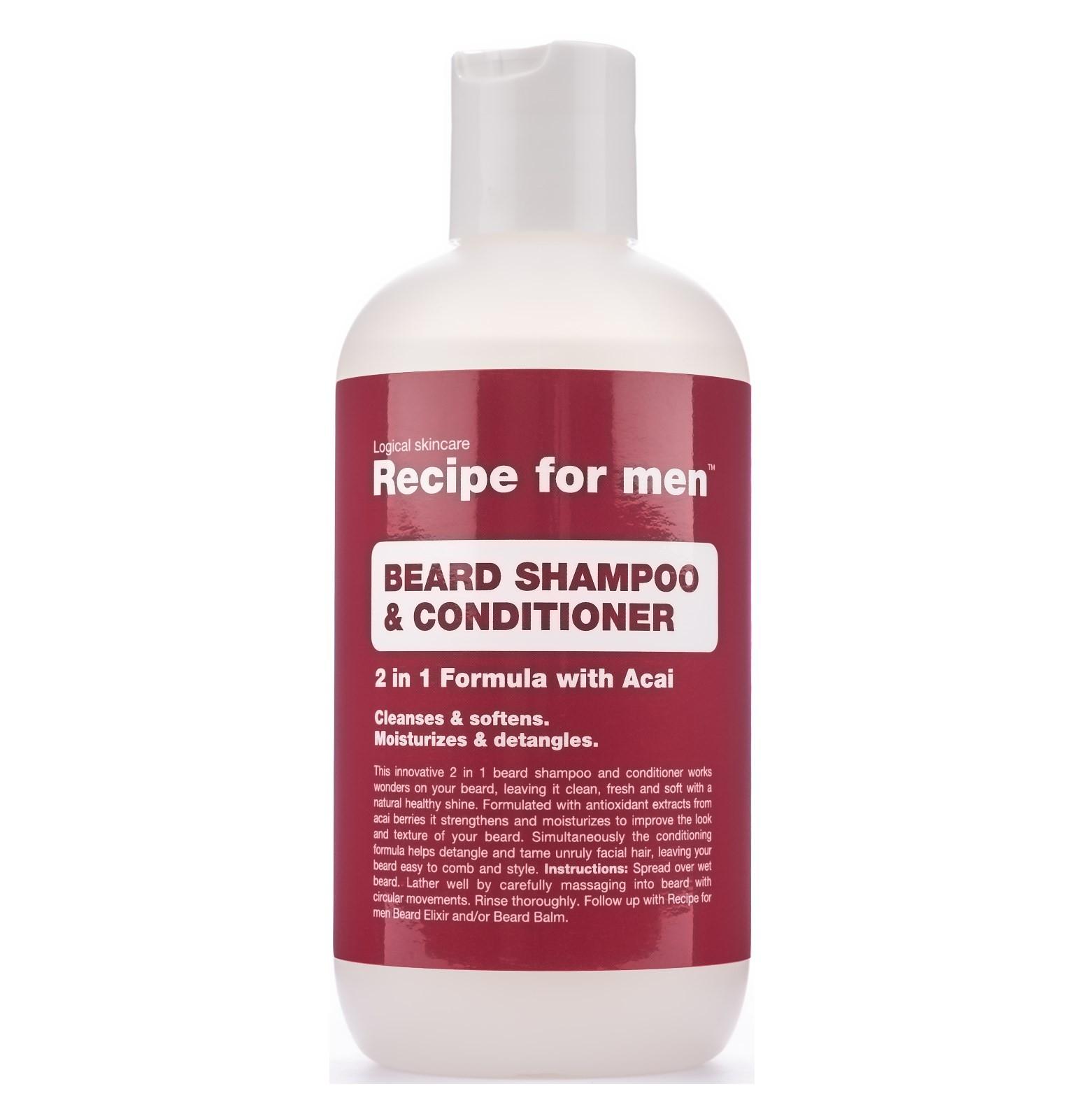Recipe for Men Beard Shampoo & Conditioner