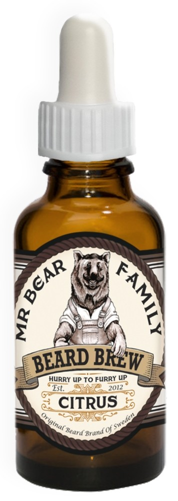 Mr Bear Family Beard Brew skäggolja Citrus