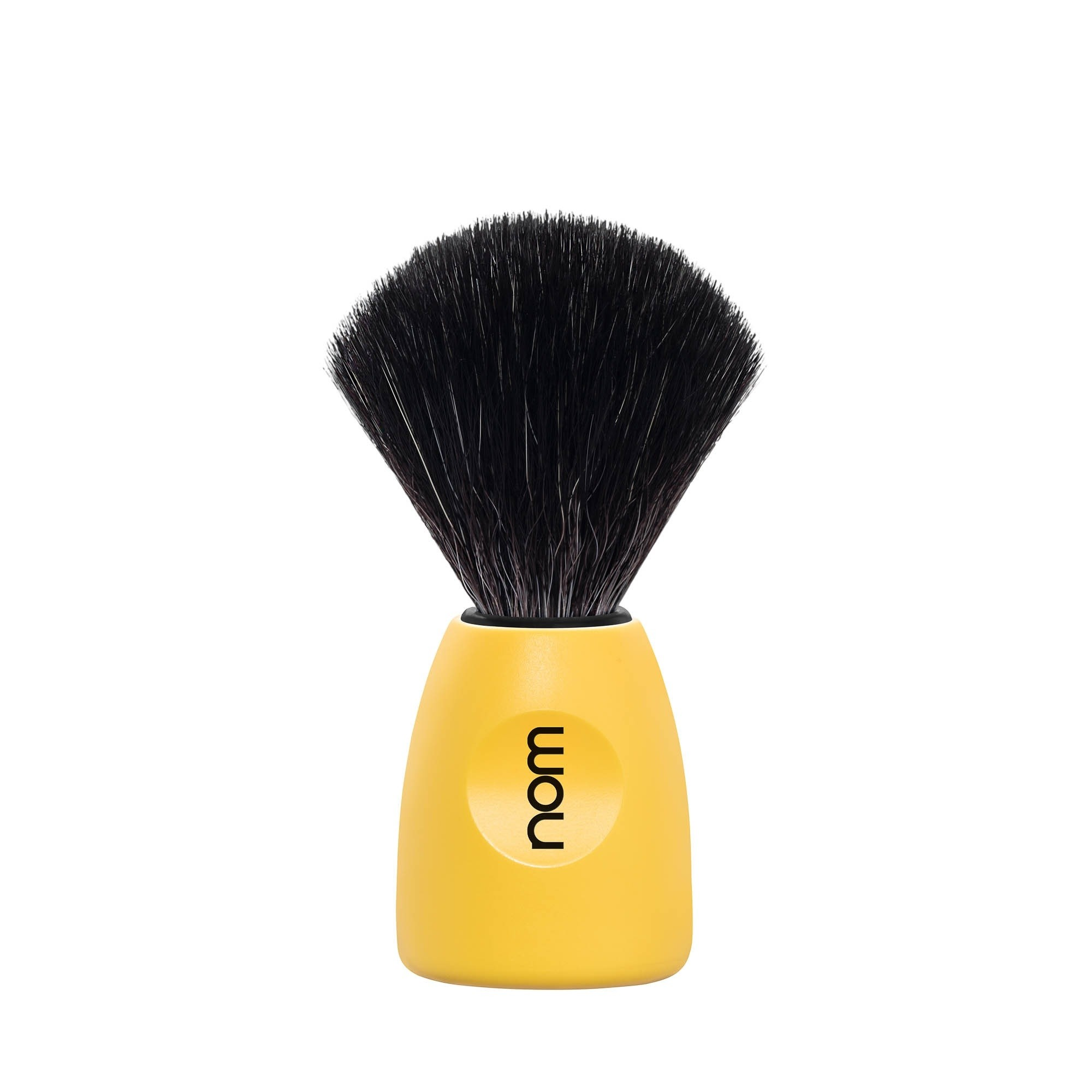 Mühle Nom Lasse Shaving Brush Black Fibre, lemon