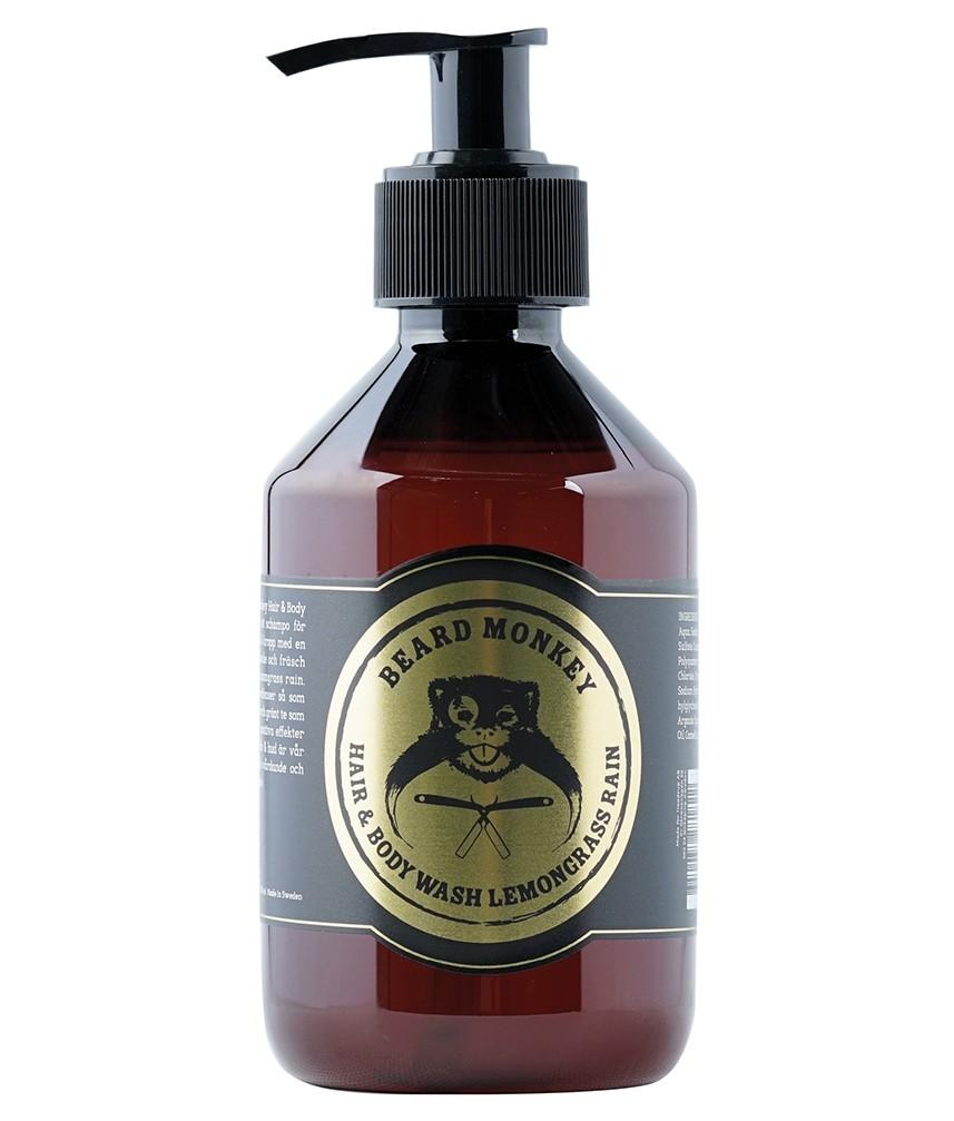 Beard Monkey Hair & Body Shampoo Lemongrass