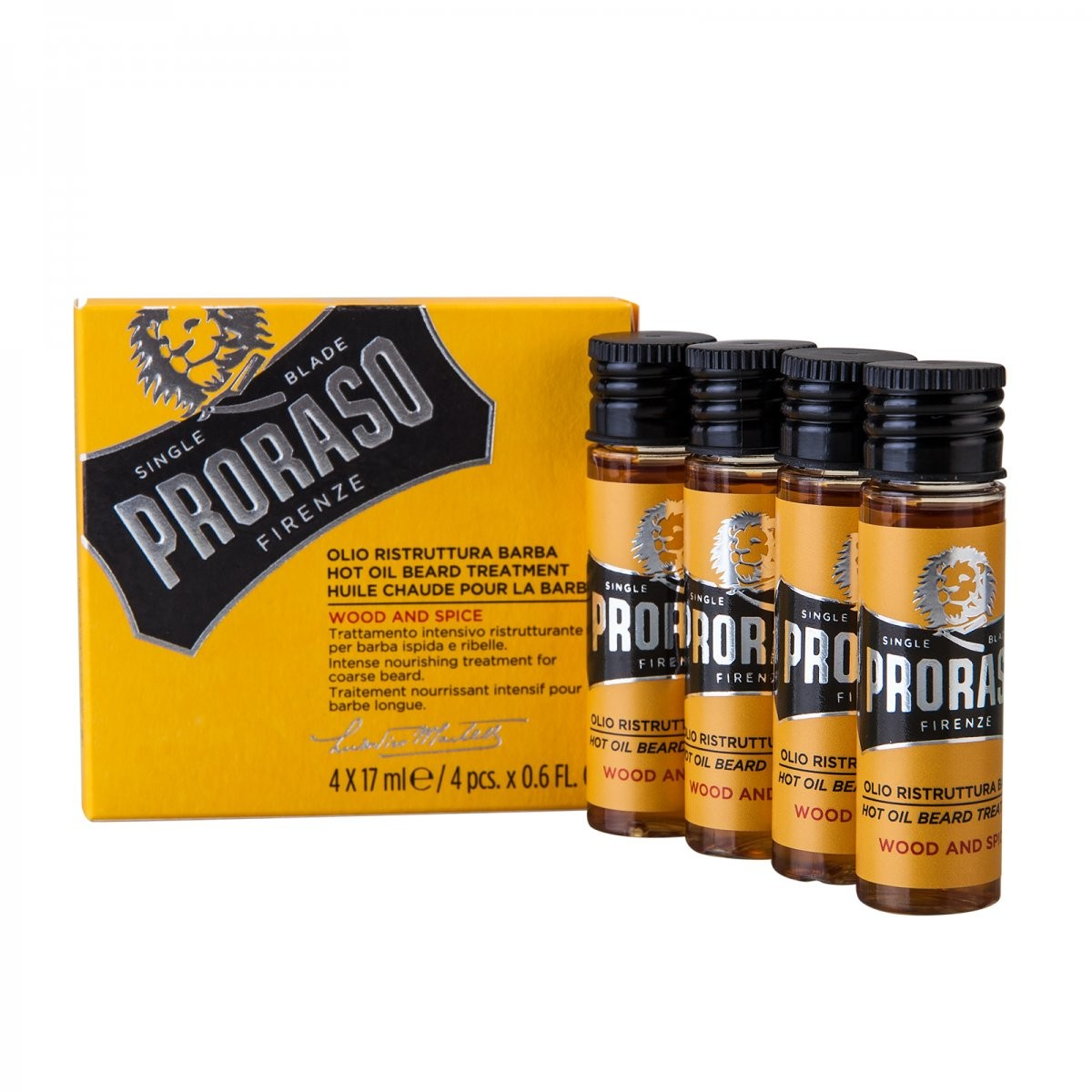 Proraso Hot Oil Beard Treatment 4x17 ml