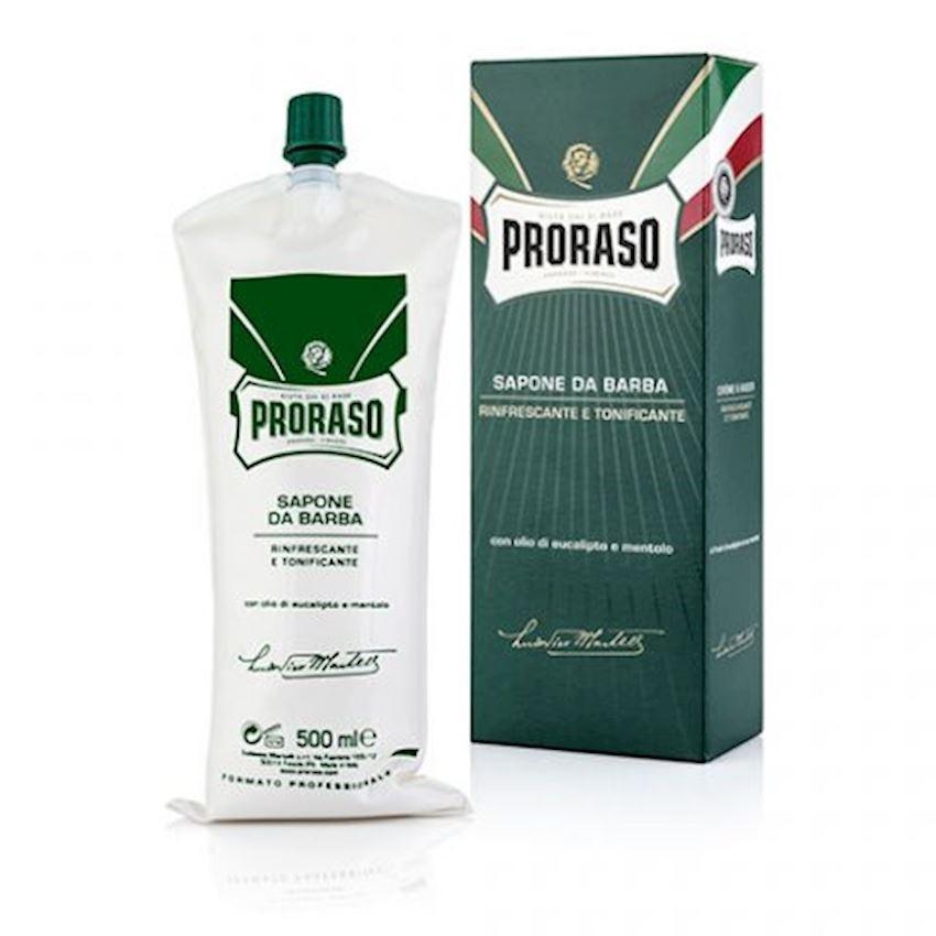 Proraso Shaving Cream Refreshing and Toning Eucalyptus - barber size