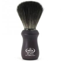 """Omega Shaving Brush """"Hi Brush""""  Black Fibre Ash Wood"""