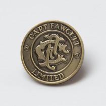 Captain Fawcett Antique Brass Badge