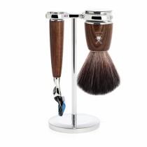 Mühle Rytmo Shaving Set Fusion + Brush, Ash