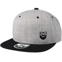Bearded Man Apparel Side Logo Grey/Black Snapback