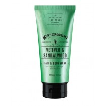 The Scottish Fine Soaps Vetiver & Sandalwood Hair & Body Wash 200ml