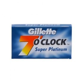 Gillette 7 O'clock Super Platinum Double Edge Razor Blades 5-p