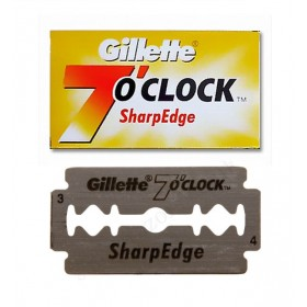 Gillette 7 O'clock Sharp Edge Double Edge Razor Blades 5-p