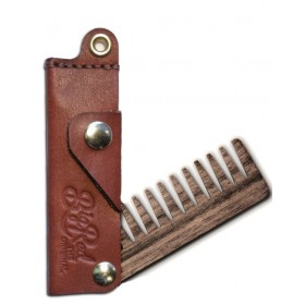 Big Red Beard Comb No.22 Wide - Whiskey Leather