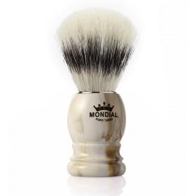 Mondial Basic Shaving Brush Pure Bristle, Clear Marble