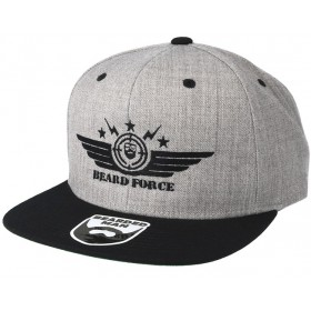 Bearded Man Apparel Beard Force Grey/Black Snapback