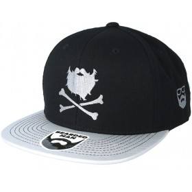 Bearded Man Apparel Bones Black/Silver Snapback