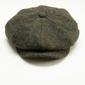Captain Fawcett Harris Tweed Baker Boy Cap