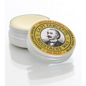 Captain Fawcett BIG PEAT Islay Malt Whisky Moustache Wax