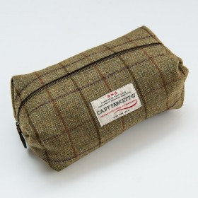 Captain Fawcett Tweed Wash Bag