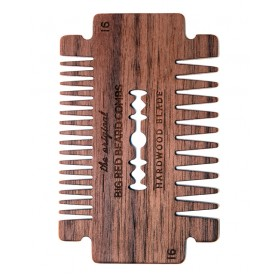 Big Red Beard Comb No.16 - Hardwood Blade Walnut