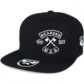 Bearded Man Apparel MC Patch Black Snapback