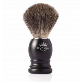 Mondial Basic Shaving Brush Grey Badger, Satin Black