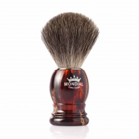 Mondial Basic Shaving Brush Grey Badger, Tortoise Shell