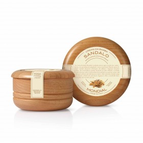 Mondial Classic Luxury Shaving Cream Sandalo Wooden Bowl