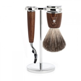 Muhle Rytmo Shaving Set Mach3 + Brush, Ash