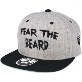 Bearded Man Apparel Fear The Beard Grey/Black Snapback